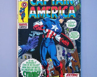 Vintage 1970 Captain America No. 124 Good Condition No Missing Pages or Cut Outs