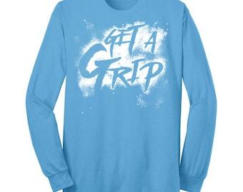 Gymnastics Chalk Get a Grip Shirt Gymnast Long Sleeve T Shirt Gymnastics Shirt