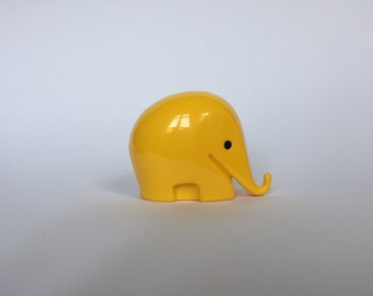SALE 10% OFF Vintage Colani Style Elephant Piggy Bank. Space Age. Yellow. German. Piggy Bank. Drumbo. Germany. 2017_018