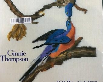 John James Audubon's Birds In Cross Stitch Book by Ginnie Thompson