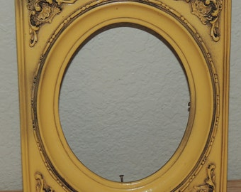 Vtg Decorated Wood Frame