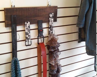 Graduate, Father's Day Gift!! Recycled Belt, Scarf, Tie Rack. Repurposed Belts Clothing Hanger. Bedroom, Home Decor. Free Shipping!!