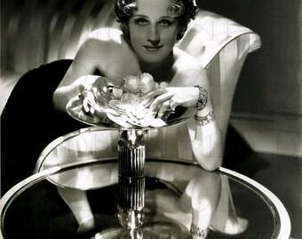 Norma Shearer! Art DECO Vintage Photo. Vintage Movie Star Digital Download. Digital Movie Star Photo. Deco Digital Flapper. Silent Screen.