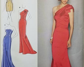 Misses' Evening Dress Pattern In Two Lengths. Jessica McClintock. Size P5 12, 14, 16, 18, 20. Simplicity K2253.