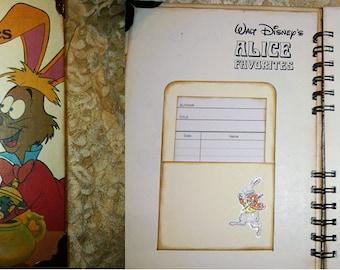 Alice in Wonderland Junk Journal, Smash Book, Scrapbook, Album.