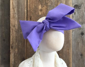 Solid Purple Lavender Easter Spring Print Head Wrap Headwrap