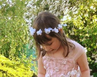 Baby prop wreath of flowers, Jasmine garland, flower girl  white floral crown, romantic head piece