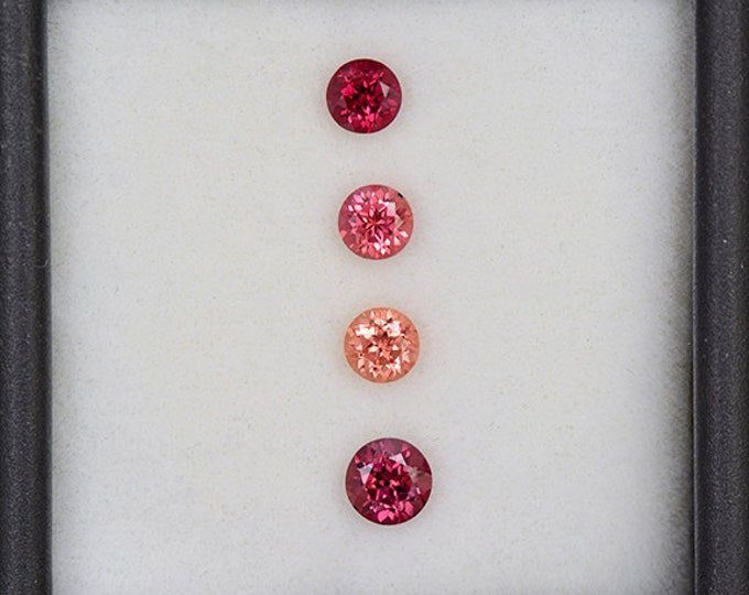 Nice Pink and Red Sapphire Gemstone Set from Tanzania 1.15 tcw.