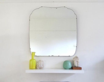 Vintage Art Deco Bevelled Mirror Extra Large