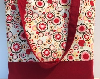 red print tote/shoulder purse