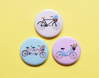 Bycicles Pin Set | 1.25 inch Pinback Button Badge