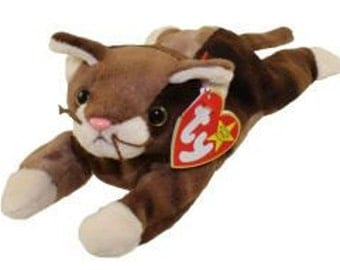 Pounce Cat - Retired Ty Beanie Baby - 1997 - Mint Condition
