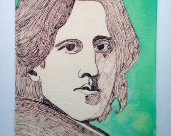 Dorian gray etsy for Art and decoration oscar wilde