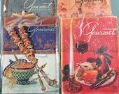 1948 Gourmet Magazine Vintage Cooking Magazines March, Sept, Nov, Dec