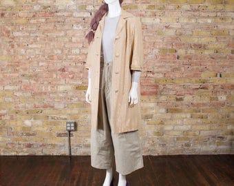 60s gold lurex jacket / spring jacket / duster jacket / metallic / gold jacket / long spring jacket / retro / gold shimmer / spring coat