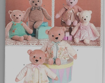 8155 Simplicity 21.5 Inch Teddy Bear with Clothes Sewing Pattern