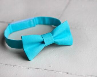 Boys Aqua Blue Bow Tie -  Toddler Aqua Bow Tie, Aqua Baby Bow Tie, Little Boys Bow Tie, Aqua Toddler Bow Tie,  Aqua Toddler Boys Bow Tie