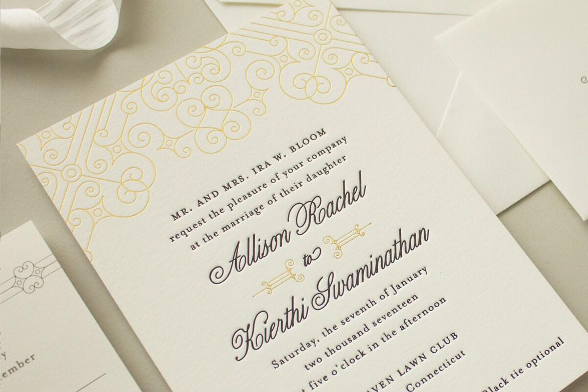Letterpress wedding invitations puerto rico