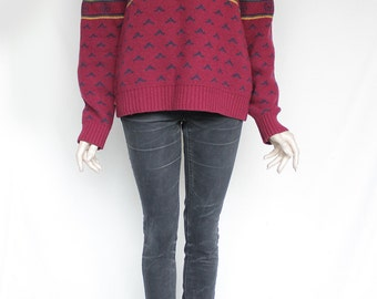 Crimson sweater | Etsy