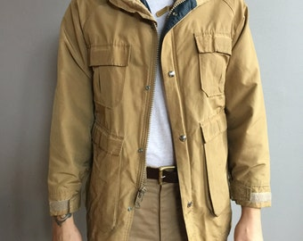 Woolrich Tan Wind Breaker with Hood