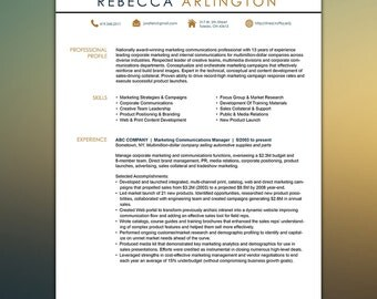 Sales Resume Template Microsoft Office Instant Download | Any Profession | Modern Resume | Easy to Edit | CV Template ARLINGTON