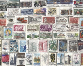 Huge Denmark Postage Stamp Collection - 200 Different For All Your Art and Craft Projects!