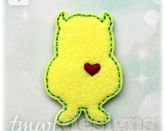 """Wild Thing Love Monster Silhouette B Feltie Digital Design File - 1.75"""""""