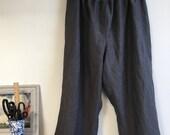 Charcoal Grey Linen Pants Plus Size
