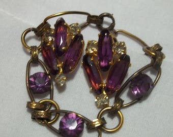 1940s vintage costume jewelry set