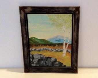 Vintage Landscape Acryllic Painting