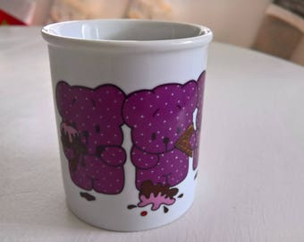 Vintage Sorry Bears Kate Gleeson Little Beasties Mug --- Sympathy Empathy Apology Mug --- Cute Kawaii Mix n' Match Kitchen Cup Coffee & Tea