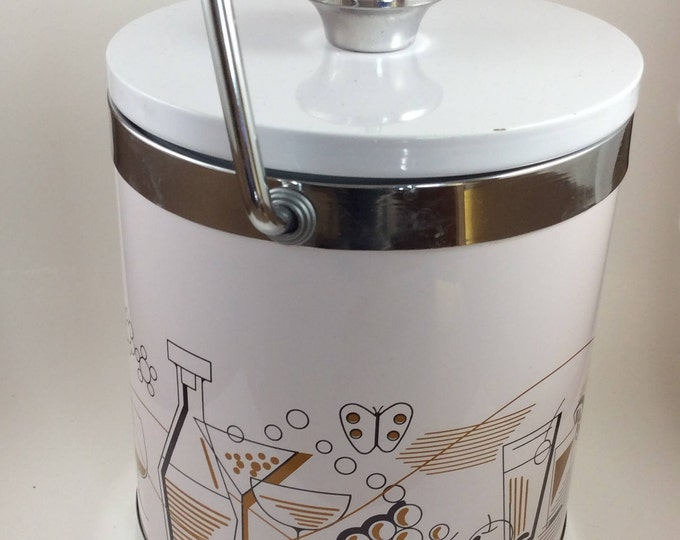 F.W. Woolworth mini ice bucket, vintage ice bucket, vintage barware, small ice bucket, vintage decor, mid century ice bucket