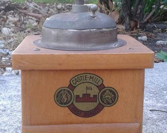 Vintage Castle Mill Coffee Grinder Kitchenware Collectibles