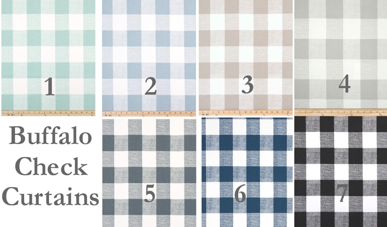 Buffalo Check Curtains 9 Colorsblack Curtainslarge Check