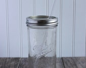 24 oz. Mason Jar Tumbler and BPA Free Reusable Straw - Pint & A Half Size