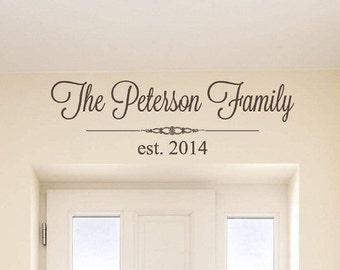 Personalized Family Wall Decal | Family Name Wall Decal | Last Name Wall Decal | Vinyl Lettering | Gift for Her | Wall Art | Custom DecalCE8