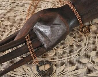 Antique Ornate Key Necklace