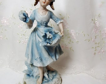 Andrea Sadek Figurine // Girl With Grapes // Blue // 7190