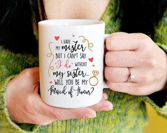 Maid of Honor Proposal, Wedding Mug, Bridal Shower Gift, Bachelorette Party, Brides Last Ride, Mrs, Team Bride, Bridesmaid, Brides Crew