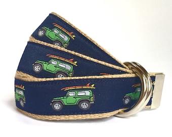 Child Belt - Nautical Belt - Surfboard Belt - Boys Belt - Canvas Belt - Ring Bearer Belt - Ringer Bearer Outfit - Navy Toddler Belt