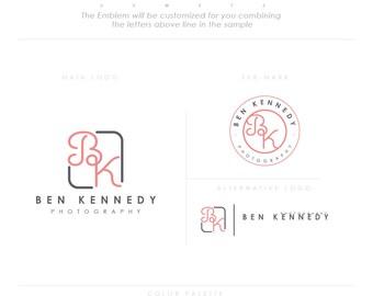 minimal emblem design art letter design businesscards  simple modern feminine branding logo Identity artist makeup wedding photographer rose