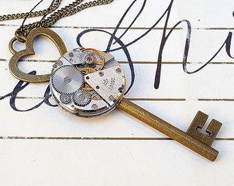 Key To Your Heart - Steampunk jewelry -necklace-