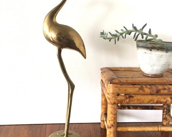 EXTRA TALL Brass Bird
