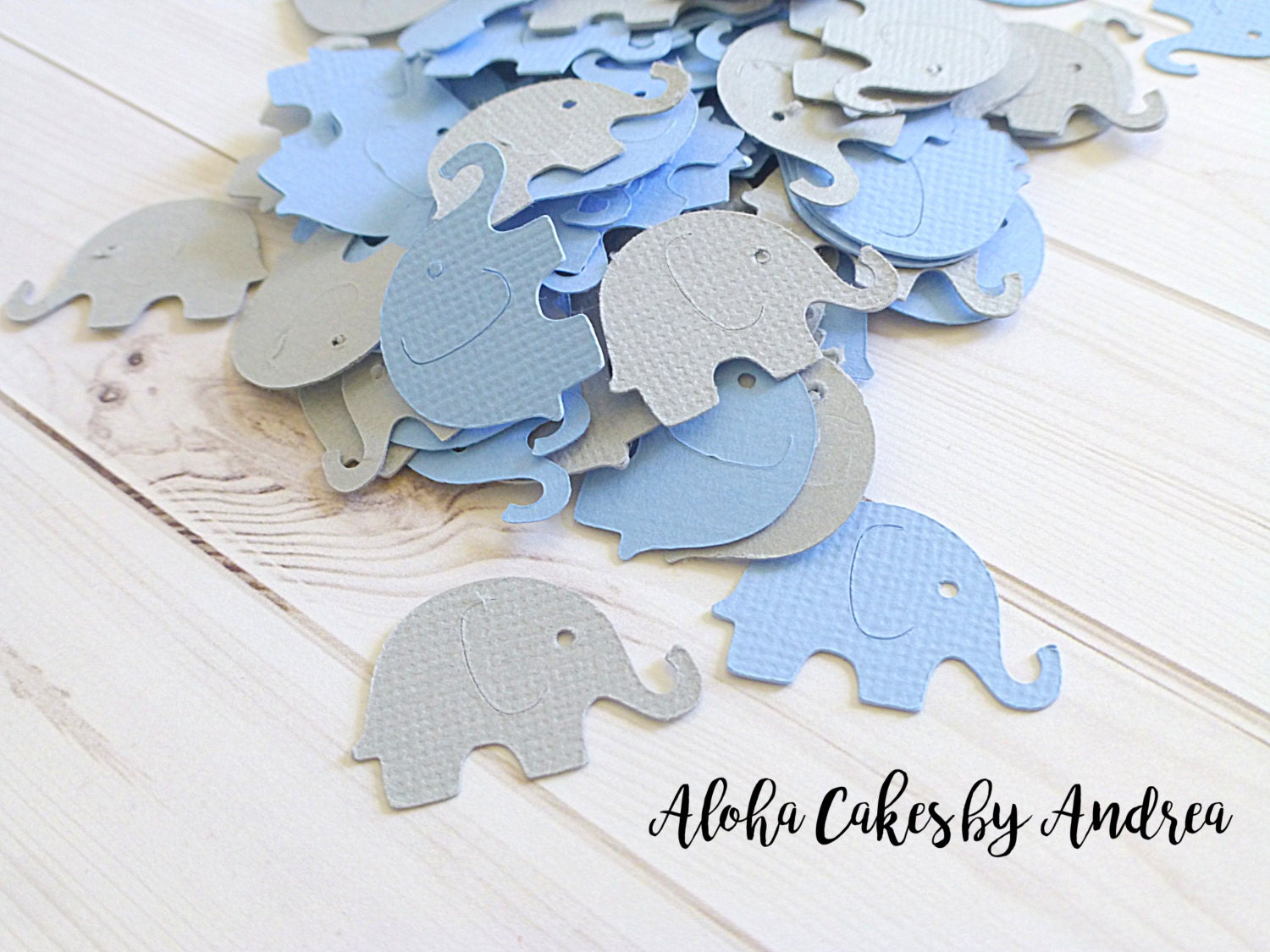 Elephant confetti baby shower decorations it 39 s a boy for Baby confetti decoration