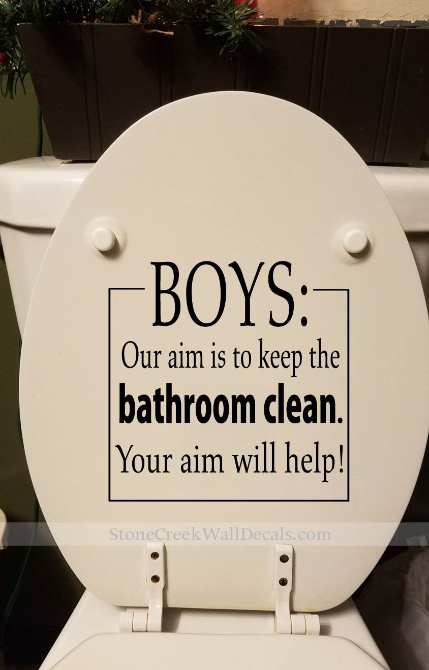 Toilet Decal BOYS Our Aim Keep the Bathroom Clean Bathroom
