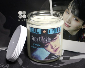 Suga Cookie - BTS - Soy Candle - 8oz - Vanilla Sugar Cookie