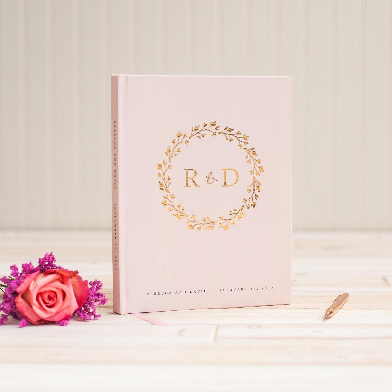 Gästebuch Hochzeit gold Folierung