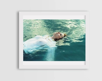 girls swimming, fine art photography, photography prints, canvas photo prints, wall art decor, nipple photography,  woman portrait photo