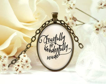 Fearfully and Wonderfully Made Necklace - Pregnancy Gift - Bible Verse Necklace - Birthday Gift Idea - Gift for Her - Christian Jewelry