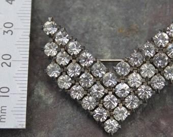 Vintage Diamante Brooch